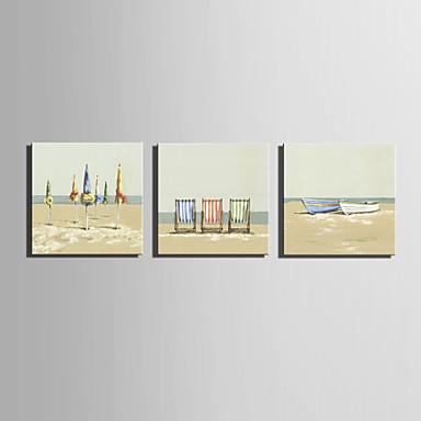 Landschaft Europäischer Stil, Drei Paneele Segeltuch Quadratisch Druck Wand Dekoration Haus Dekoration