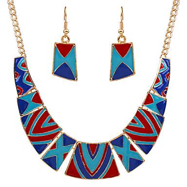 בגדי ריקוד נשים סט תכשיטים - זירקון מותאם אישית, מסיבה, בוהמי לִכלוֹל שחור / אדום / כחול עבור יומי / קזו'אל