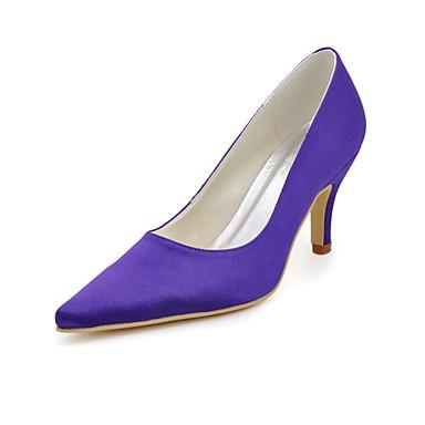 kvinners sko silke stiletto hæl hæler / spiss tå hæler bryllup / fest& kveld / kjole lilla