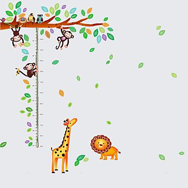 Dyr Botanisk Tegneserie Still Life Mote fritid Veggklistremerker Fly vægklistermærker Dekorative Mur Klistermærker Højde klistermærker