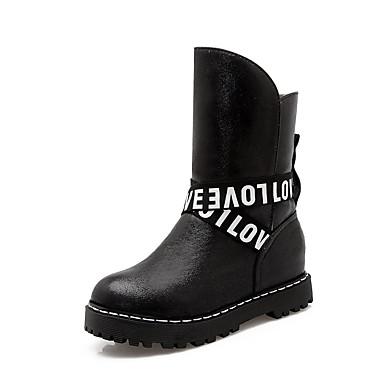 Bootsit-Platform-Naisten-Tekonahka-Musta Pinkki Hopea Kulta-Ulkoilu Rento Juhlat-Platform Saappaat
