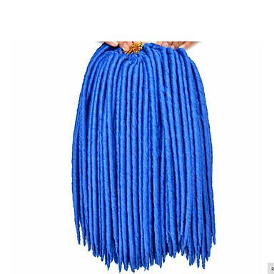 סריגה / הוואנה הרחבות Dreadlock / ראסטות מלאכותית / ראסטות קרוקט מלאכותית 100% שיער קנקלון מנעולי Dread / ראסטות / פו לוקס שיער צמות