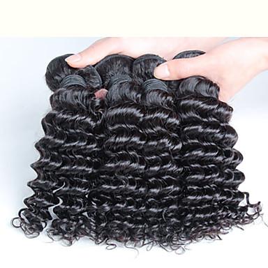 10-30 inç 4 adet 400g malezya derin kıvırcık saç% 100 malezya bakire bakire saç