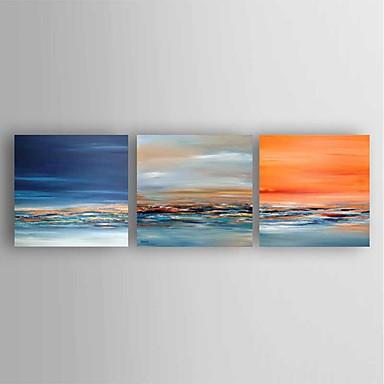 Håndmalte Abstrakt Moderne,Tre Paneler Lerret Hang malte oljemaleri