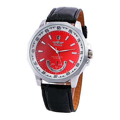WINNER Herrn Mechanische Uhr Automatikaufzug Schwarz Armbanduhren für den Alltag Analog Charme - Rot Blau