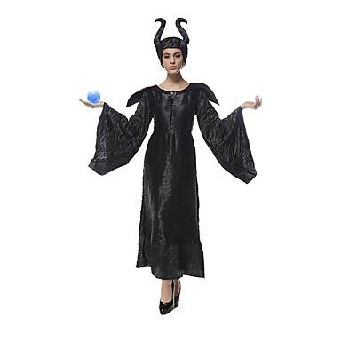 Costumes de Cosplay Reine Conte de Fée Cosplay de Film Robe Chapeau Halloween Noël Nouvel an Féminin Térylène