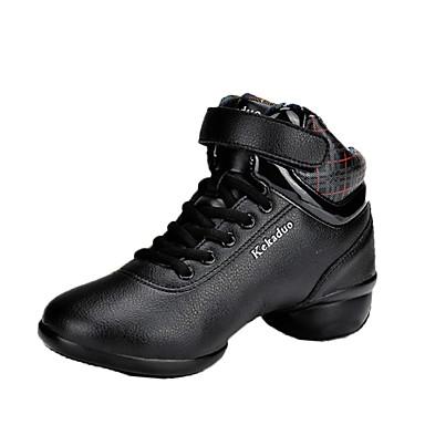 Mulheres Tênis de Dança / Sapatos de Dança Moderna Courino Oxford / Botas / Têni Sem Salto Não Personalizável Sapatos de Dança Preto