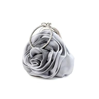 Damen Taschen Andere Lederart Abendtasche / Abdeckung Blume / Rüschen für Hochzeit / Veranstaltung / Fest / Formal Silber / Purpur / Rot