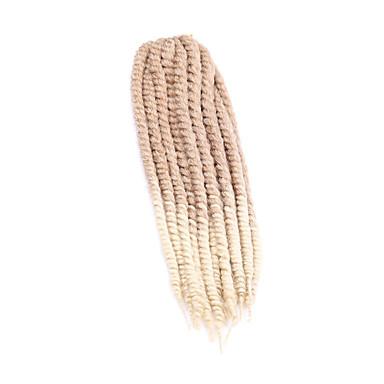 Tranças torção Tranças de Cabelo Extensões para Entrelace Havana Senegal Box Tranças 51cm 56cm Cabelo 100% Kanekalon Loiro Morango/Loiro