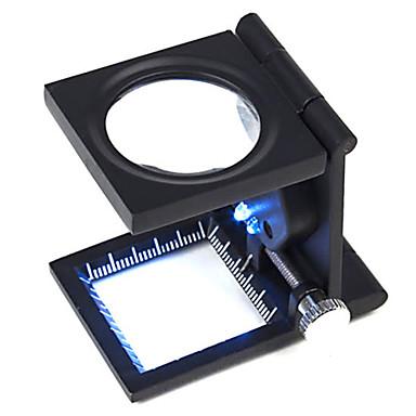 Lupen / Mikroskop Schmuck / Uhren Reperatur High Definition / Tragbar / LED / Faltbar 10 30mm Normal Metall