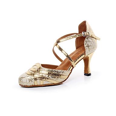 Sapatos de Dança(Preto / Prateado / Dourado) -Feminino-Não Personalizável-Latina / Salsa