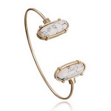 Damen Manschetten-Armbänder Modisch Böhmen-Art Aleación Ovale Form Anker Weiß Blau Schmuck Für Alltag Normal 1 Stück