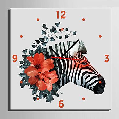 Moderno/Contemporâneo Animais Relógio de parede,Quadrada Tela40 x 40cm(16inchx16inch)x1pcs/ 50 x 50cm(20inchx20inch)x1pcs/ 60 x