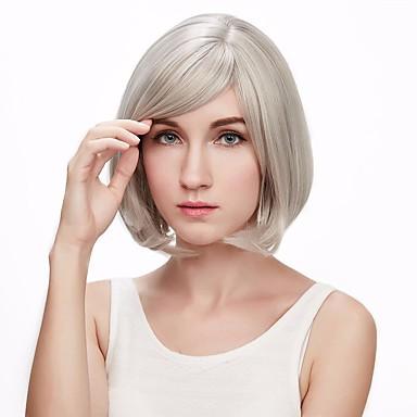 Pelucas sintéticas Ondulado Corte Bob / Con flequillo Pelo sintético Peluca Mujer