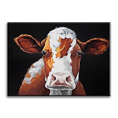 Peint à la main Animal Format Horizontal,Classique Style Moderne Traditionnel Réalisme Méditerranéen Pastoral Style européen Toile