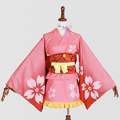 مستوحاة من Kabaneri القلعة الحديد Nameless Actress أنيمي أزياء Cosplay الدعاوى تأثيري / ثوب واسع فضفاض طباعة ربطة عنق / Yukata / خوذة من أجل نسائي