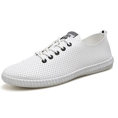 Herren Flache Schuhe Tüll PU Sommer Normal Flacher Absatz Schwarz Grün Blau