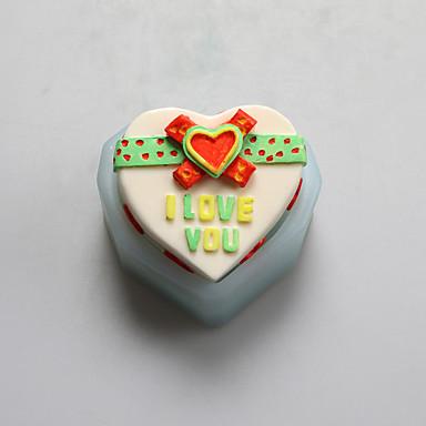 Moule de Cuisson Cœur Pour Gâteau Pour Cookie For Chocolate Pour Tarte Silikon Haute qualité Bricolage La Saint Valentin