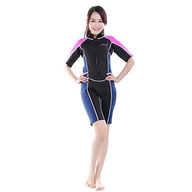 Femme Homme 2mm Costumes humides Combinaison de plongée Combinaison Courte Résistant aux ultraviolets Compression Coque Intégrale Tactel