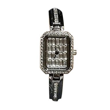Dame Selskapsklokke Moteklokke Simulert Diamant Klokke Paveklokke Quartz Japansk Quartz Hverdagsklokke Imitasjon Diamant Rustfritt stål