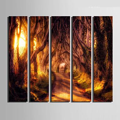 Leinwand-Set Landschaft Europäischer Stil,Fünf Panele Leinwand Vertikal Druck-Kunst Wand Dekoration For Haus Dekoration