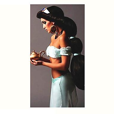 Pilailuperuukit / Synteettiset peruukit Suora Musta Naisten Suojuksettomat Carnival Peruukki / Halloween Peruukki Pitkä Synteettiset