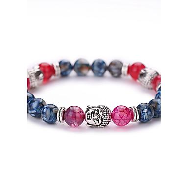 Strang-Armbänder Retro Mehrfarbig Modisch bezaubernd Perlenbesetzt Synthetische Edelsteine Achat Hülle Aleación Geometrische Form Schmuck