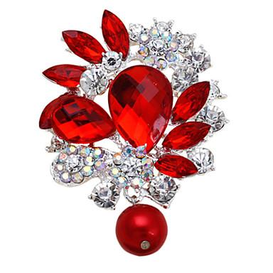 cristal femmes strass en métal d'alliage de mode de broches goutte d'eau de fête de mariage pour le mariage