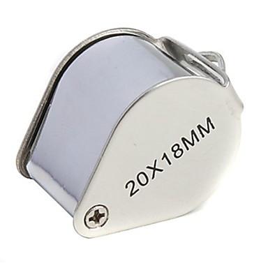 זכוכית מגדלת / מיקרוסקופ תכשיטים / תיקון שעון חדות גבוהה HD / נשיאה ידנית / קיפול 20X 18mm נורמלי מתכת