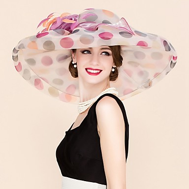 voordelige Hoeden-Organza Kentucky Derby Hat / fascinators / hatut met Bloem 1pc Bruiloft / Speciale gelegenheden  / Causaal Helm