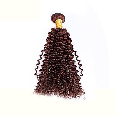 Бразильские волосы Kinky Curly Классика Ткет человеческих волос 1шт Высокое качество Человека ткет Волосы Повседневные