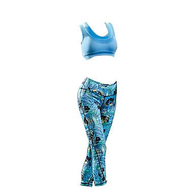 Damen Ärmellos Fahrradtrikots mit Fahrradhosen - Blau Fahhrad Kleidungs-Sets, Wasserdicht, Sommer