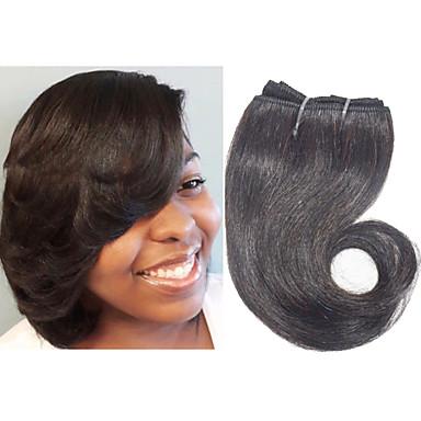 שיער הודי Body Wave Ombre 4 חבילות 8 אִינְטשׁ שוזרת שיער אנושי שחור תוספות שיער אדם
