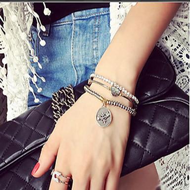 נשים צמידי צ'ארם צמידי Strand אופנתי תחרה Round Shape תכשיטים עבור יומי קזו'אל