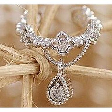 Feminino Brincos Compridos Vintage Fashion Zircão Zircônia Cubica Imitações de Diamante Liga Forma Geométrica Caído Jóias Para Diário