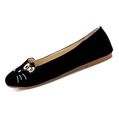 Dames Platte schoenen Comfortabel Fleece Zomer Causaal Comfortabel Dierenprint Platte hak Zwart Beige Bruin Rood Bordeaux Plat