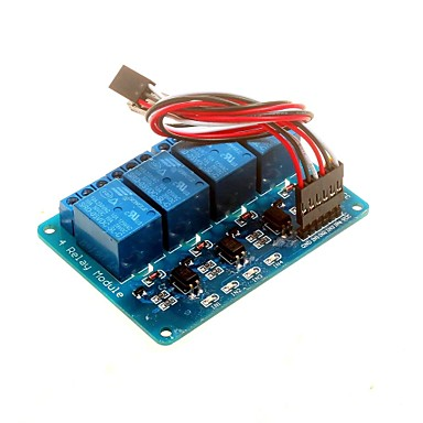 4-kanals 5v relæ modul med optokobler DSP avr pic arm til Arduino