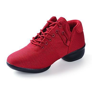 Chaussures de danse(Noir / Rouge / Blanc) -Non Personnalisables-Talon Bas-Tissu-Baskets de Danse
