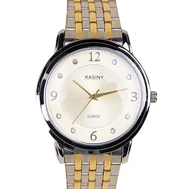 בגדי ריקוד גברים שעוני אופנה יהלוםSimulated שעון קווארץ שעונים יום יומיים סגסוגת להקה מדבקות עם נצנצים מזל מגניב כסף זהב צבעוני