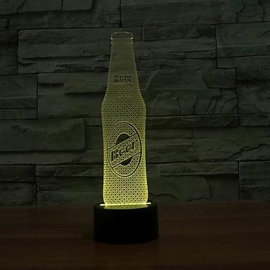 Bierflasche shape3d Illusion Farbe wechselnden Nacht magische Nacht Lampe Licht bulbing