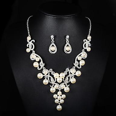 Ensemble de bijoux Femme Anniversaire / Mariage / Fiançailles / Sorée / Occasion spéciale Parures Alliage Imitation de perle / Stras