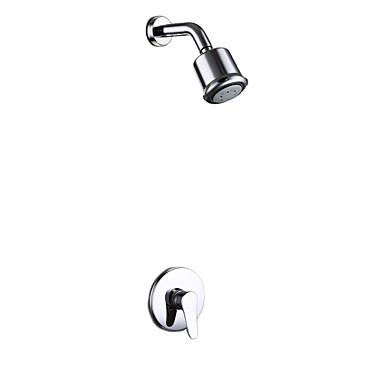עכשווי מקלחת בלבד spary Wide with  שסתום קרמי חור ידית אחת אחת for  כרום , ברז למקלחת
