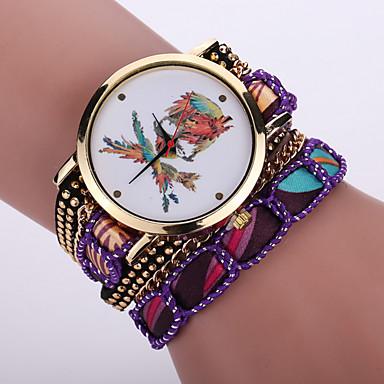 Dames Armbandhorloge Modieus horloge Polshorloge Kwarts / Stof Band Bohémien Cool Zwart Wit Blauw Rood Roze Paars