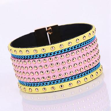 Bracelet Bracelets Wrap / Bracelets en cuir Alliage / Cuir / Strass Forme Géométrique Mode / Bohemia style / AdorableSoirée / Quotidien /