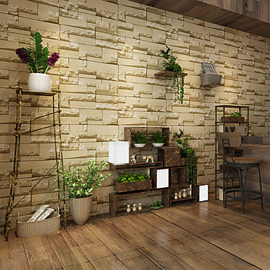 povoljno Dom i vrt-3D Početna Dekoracija Suvremena Zidnih obloga, PVC/Vinil Materijal Ljepila potrebna tapeta, Soba dekoracija ili zaštita za zid