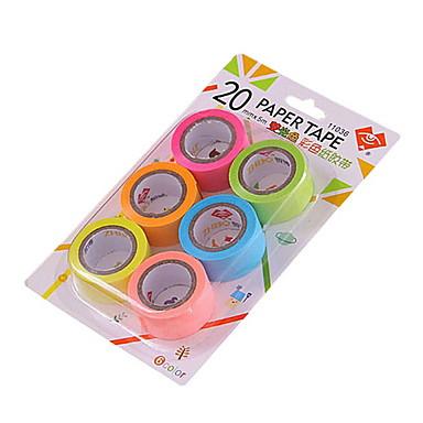 20mm bricolaje colorida decoración de la cinta 6pcs / set