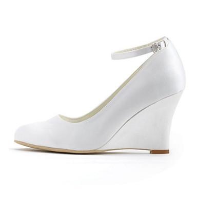 f34ba03a960e26 ... Mariage Femme Habillé Chaussures 05115037 Automne Boucle Satin semelle compensée  Chaussures Elastique Printemps de à Talons ...