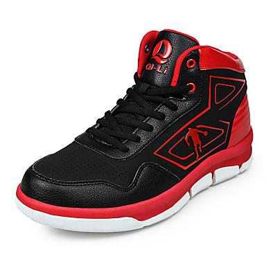 Homme Chaussures Cuir Hiver Printemps Eté Automne Confort Basketball Lacet pour Blanc Noir/Rouge