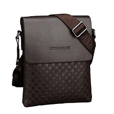 Men's Bags PU Crossbody Bag for Shopping Casual Office & Career Outdoor Fall Black Coffee