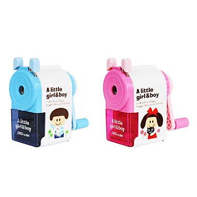 Crayon Stylo Affûteuses manuelles Stylo,Plastique Métal Baril Couleurs Aléatoires Couleurs d'encre For Fournitures scolaires Fournitures